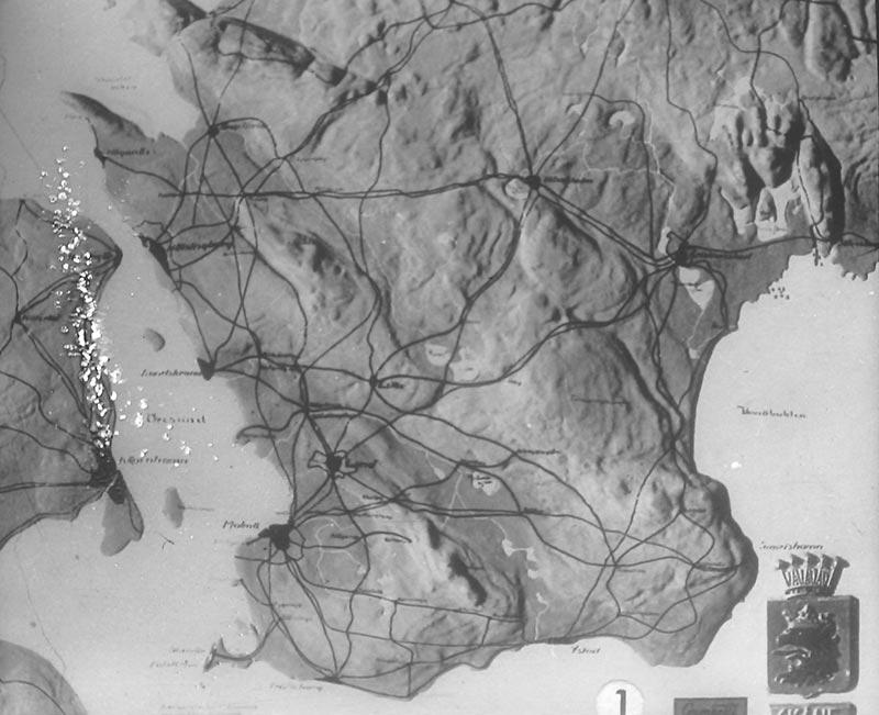 Karta Nordvastra Skane.Skane